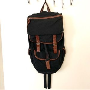 Urban outfitters ecote black canvas backpack